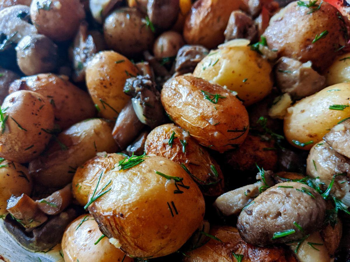 detail na uvarené zemiaky